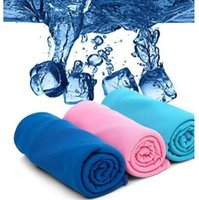 Wholesale Baby Magic Wholesale - New Arrival Magic Ice Towel 35*90cm Multifunction Cooling Summer Cold Sports Towels Cool Scarf Ice Belt For Kids Adults CCA6302 300pcs