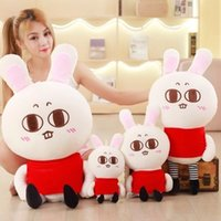 2018 cute pop cartoon lapin oreiller poupée en peluche big stuffed anime lapin jouet enfant cadeau 35inch 90cm