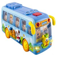 Wholesale Plastic School Bus Toy - Bump & Go Shaking Musical Fun Small School Bus Toy with Flashing Lights For Kids Children popular