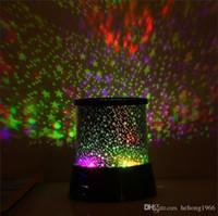 luces led coloridas estrellas del cielo estrella al por mayor-Luz de la noche Dreamlike colorido LED Sky Star Master Lights Proyector Lámpara de sueño para niños Kids Baby Desk Decor mesa 3 7ms R