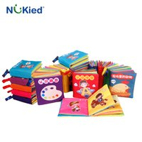 Wholesale Counting Books - NUKied 6 style Infant Early Cognitive Development Cloth Book Colorful Educational Unfolding Soft Acitvity Story Book With Animal