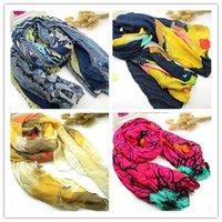 Wholesale Cheap Wholesale Pashmina - Promotion new pure linen fold super long big shawl women sexy fashion cheap multicolor punk scarf scarves wraps free shipping