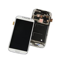 Wholesale Display Screen Galaxy S4 - Best AAAA Quality For Samsung Galaxy S4 LCD i9500 I337 M919 I545 I9502 I9505 E300K Display Touch Screen With Frame Parts Free DHL