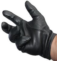 ingrosso guanti in pelle nera per uomo-Guanti in pelle tattici Police HOT New da uomo neri Tops taglia M / L / XL Best Price K144