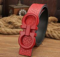 Wholesale Golden Copper - 2017New fashion men big buckle belts High quality belts designer genuine leather belt for men women belts free shipping