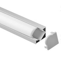 cubierta de perfil de tira de led al por mayor-perfil de aluminio led, 1m por pieza, perfil de extrusión de aluminio LED para tiras LED con cubierta difusa lechosa o cubierta transparente SN1818A