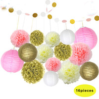 Wholesale Chinese Paper Lanterns Sale - Wholesale 10cps, 2017 Top Sale Wedding Birthday Party Decorations Set Paper Ballon And Lantern High Quliaty d04
