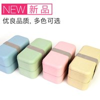 Wholesale KHZ058 natural healthy biodegradable wheat straw rectangle lunch box
