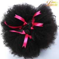 8A Unprocessed Brazilian Human Hair Weave Afro Kinky Curly Human Hair 3Pcs / Lot 8