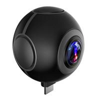 Wholesale Professional Smartphone - Dual lens 360 Degree mini Panoramic camera VR Selfie Camera 3K HD Sport DV Action Camera Fish Eye for Android Smartphone