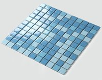 Wholesale Ceramic Kitchen Decor - Sky Blue ceramic tiles,waterproof kitchen backsplash tiles,Bathroom wall,Fireplace decor home wall art tiles,two colors optional,LSTC2303