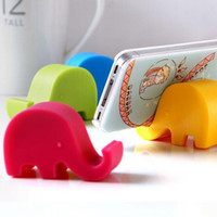 Wholesale Elephant Phone Stand - Mobile phone stents Creative mobile phone stand Elephant modeling phone stand free shipping