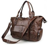 Wholesale Briefcase Portfolio Woman - Wholesale- Nesitu Vintage Coffee Genuine Leather Women Briefcase 14'' Laptop Bag Portfolio Cowhide Women Messenger Bags #M7251