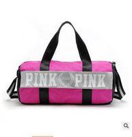 Wholesale European Style Bags - Handbags Designer Duffle Dags Fashion Women Pink Letter Unisex Shoulder Dag Canvas Girl Pink VS Secret Luxury Packets Traveling Bags DHL Fr