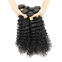 Vente en gros 1kg 10 Bundles Deep Wave Virgin Hair Brésilien Péruvien Malaisien Raw Virgin Indian Cheveux Humains Weave Deep Curly 8-28 inch