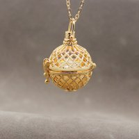 Wholesale Cheap 14k Gold Charms - Freshwater pearl oyster pearl imitation gold necklace charm pendant lantern for women's clothing accessories cheap sales