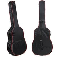 Wholesale 38 Acoustic Guitar - Wholesale- 2016 High quality 41&38 Inch Classic Acoustic Guitar Carry Bag 5mm unisex Shoulder Straps Gitar bags bass bags