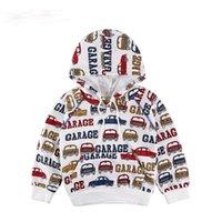 Wholesale Cars Kids Hoodies - Cartoon Cars Boys Hoodies 2017 Spring Casual Baby Boy Hooded Sweatshirts Kids Hoodies Pullover Boys Clothes Children Clothing