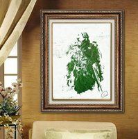 Wholesale Halo Art - Single Unframed Game Halo Abstract Green Painting Oil Painting On Canvas Giclee Wall Art Painting Art Picture For Home Decorr