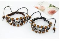 unendlichkeit kreuz perle großhandel-Design Handmade Charms Mehrschichtige Armbänder DHL Fashion Retro Cross Infinity Charms für Männer Leder Perlen Armbänder Vintage Armreifen Schmuck