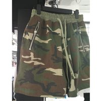 Vente en gros- 2017SS Fear Of God Camo Shorts Hommes Femmes Haute qualité Justin Bieber FOG Shorts Coton Camouflage Gris Noir Fear Of God Shorts