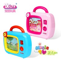 Wholesale Toys Need Battery - Wholesale- Newest Baby Toy Television with Screen Move and Music Educational Toys Music Box no need battery kids toy