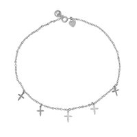 Wholesale Rhodium Plated Cross - Xuping Fashion Jewelry Elegant Cross Shape Rhodium Color Plated Copper Anklet for Women Party Gift Wholesale DH27-74925