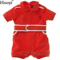 Wholesale Wholesale Race Shirts - 2018 Hooyi Baby Rompers Racing Suit Costume Newborn Clothes Baby Boys Jumpsuits Shortall 100% Cotton Cycling Shirt baby Clothing