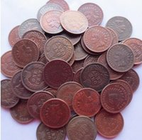 Wholesale Small Angels Sale - Indian Head Small Cents (1859-1909) 53PCS (Mixed Dates and Mintmarks ) Copper COPY coins retail   whole sale
