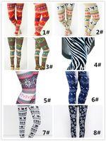 Wholesale Plus Size Winter Print Leggings - 2017 Hot Womens Autumn Winter Warm Leggings Fashion Christmas Printed High Elastic Skinny Leggings Slim Pencil Pants Plus Size DHL QM170923
