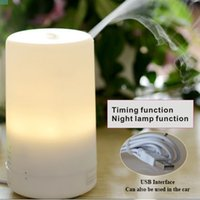 Wholesale Mini Aroma Air Humidifiers Purifiers - Mini LED Night Light Air Humidifier Diffuser Essential Oil Ultrasonic Aroma Mist Purifier Mini humidifier   USB Aromatherapy Machine