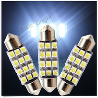 Wholesale Car Led Interior Lights 42mm - 100PCS 12SMD 42mm 3528 Car Dome Ultra bright LED Bulb Light Interior Festoon Lamp 42mm White wholesale