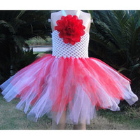 Wholesale Tutu Sizes For Kids - Baby Pageant Tutu Fairy Princess Dress Size 1-4 Childrens Kid Clothes Sleeveless Shirt For Girl Party