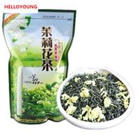chinesische blumenpakete groihandel-250g Chinesischer Bio Grüner Tee Vorfrühling Jasminblüte Roher Tee Gesundheitswesen Neuer Frühlings-Tee Grünes Lebensmittel Versiegelungsstreifen Verpackung