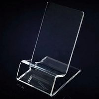 Wholesale Transparent Stand Holder Phone - Universal General Clear Transparent Acrylic Mount Holder Display Stand Shown for iphone Samsung Cellphone Mobile Phone