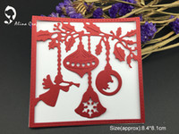 Wholesale Making Stencils - METAL CUTTING DIES christmas ball background frame Scrapbook card PAPER CRAFT made embossing stencils punch