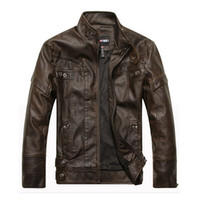 Wholesale Brand Motorcycle Leather Jackets Men Autumn and Winter Leather Clothing Men Leather Jackets Male Business casual Coats New