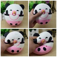 Wholesale Pacifier Baby Free Shipping - 2017 New 15cm Slow Rising Squishy Panda Baby with Pacifier Charms Toys Kid Gift Free Shipping