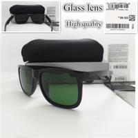 büyük boy gözlükler toptan satış-Yüksek kaliteli Cam lens Büyük boy Tasarımcı Moda Erkek Kadın Güneş Gözlüğü Spor Bağbozumu Güneş gözlükleri
