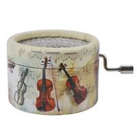 yeni hediye kağıdı toptan satış-Yeni Stil Müzik Kutusu El Crank Kağıt Müzik Kutuları Çocuklar Hediyeler Için Pefect