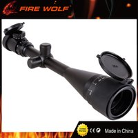 Wholesale green tactical light - FRIE WOLF 6-24X50AOE Riflescope Aim Adjustable Green Red Dot Hunting Light Tactical Scope Reticle Optical Sight Scope