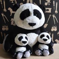 Wholesale Nici Soft Toys Free Shipping - Wholesale- NICI plush toy stuffed doll cute soft white black bear panda 1pc kid bedtime story lover Christmas birthday gift free shipping