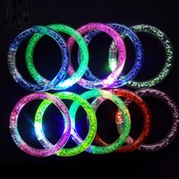 Wholesale Light Up Party Supplies - Popular Gifts Colorful changing LED bracelet Light up Bracelet flashing Acrylic glowing bracelet toys party decoration supplies