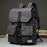 Wholesale Patchwork Japanese Bag - factory brand bag Japanese original night wind mens Nylon Backpack leisure Korean student bag computer bag stitching simple casual Canvas