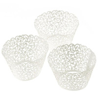 Wholesale My House pc New Little Vine Lace Laser Cut Cupcake Wrapper Liner Baking Cup Muffin jun