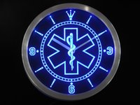 Wholesale Dropshipping Clock - Wholesale-nc0088 EMS Paramedic Medical Services Neon Sign LED Wall Clock Wholesale Dropshipping