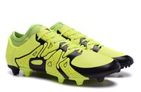 Wholesale Fg Mixes - New Fashion Men's Meysey 's Top X 15.1 FG AG Football Soccer Shoes Mixed Artificial Grass Ace Broken TF Size US 6-11 Free Shipping
