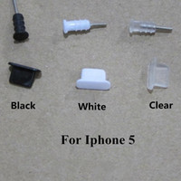 Wholesale Dock Iphone 4s Micro - 3.5mm Earphone Jack + Tappi Stopper cap Micro USB Dock Plugs Anti Dust Plug Headphones Docking For iphone 4 4S 5 5S Samsung Android