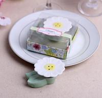 ingrosso regalo di fiore dell'ospite per il matrimonio-Carino fiore sale pepe shaker? Nuovo arrivo vaso fiore in ceramica cruet in ceramica bomboniere souvenir decorazione regali per gli ospiti