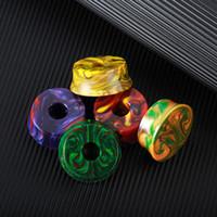 mostrar paquetes al por mayor-Base de resina epoxi Atomizador Mods E Cig Base Soporte Soporte Colorido con paquete individual Fit 510 atomizadores DHL Free